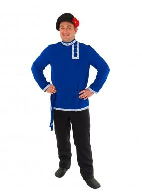 Мужская синяя косоворотка