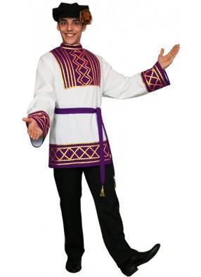 Мужской русский национальный костюм фиолетовый