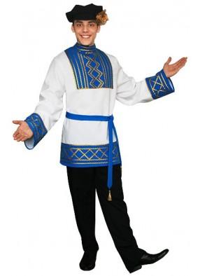 Мужской русский национальный костюм голубой