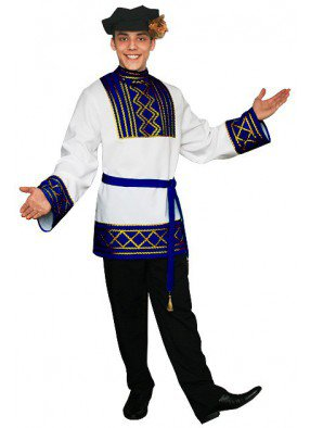 Мужской русский национальный костюм синий