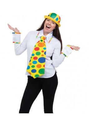 Набор Клоуна - галстук воротник и нарукавник