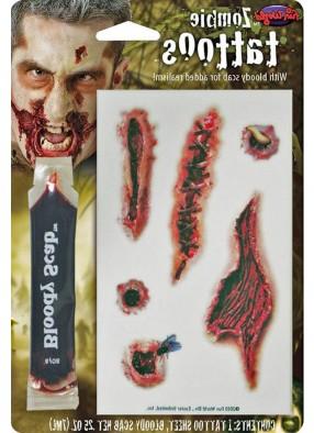 Набор накладных кровавых порезов