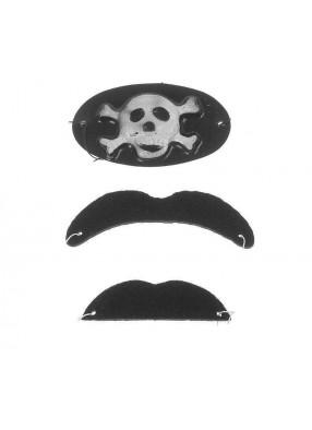 Набор накладных усов с наглазником