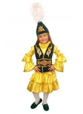Национальный казахский костюм для девочки