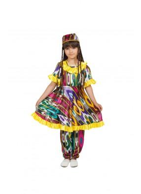 Национальный узбекский костюм для девочки