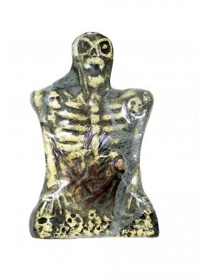 Надгробие Скелет желтый фото