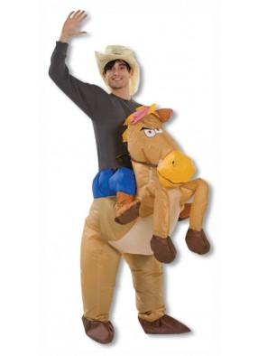 Надувной костюм ковбоя на лошади
