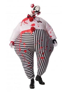 Надувной костюм кровожадного клоуна фото