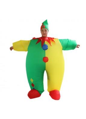 Надувной костюм пестрого клоуна