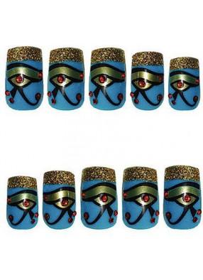 Накладные ногти с глазом Клеопатры