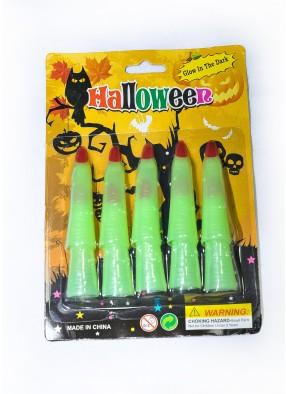 Накладные светящиеся пальцы на Хэллоуин фото