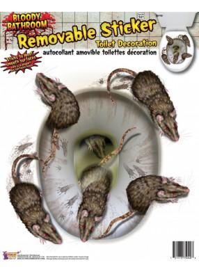Наклейка Крысы на унитаз 1 фото