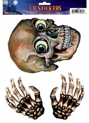 Наклейка на стекло Голова