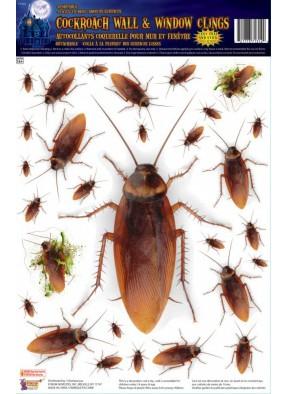 Наклейка на стекло с тараканами