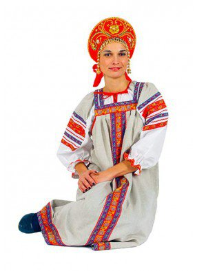 Народный сарафан из льна