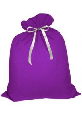Небольшой подарочный мешок Деда Мороза фиолетовый