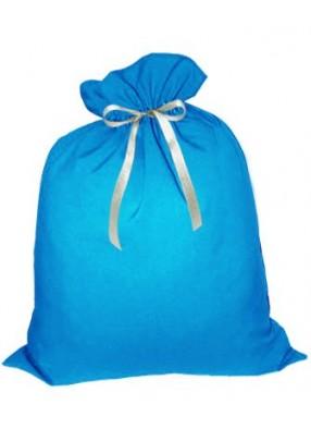 Небольшой подарочный мешок Деда Мороза голубой
