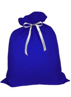 Небольшой подарочный мешок Деда Мороза синий
