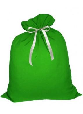 Небольшой подарочный мешок Деда Мороза зеленый