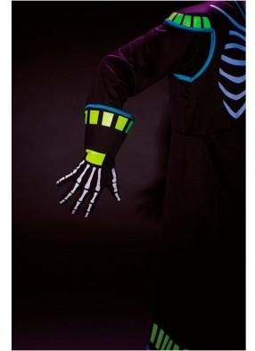 Неоновые перчатки скелета