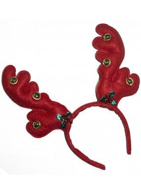 Новогодние красные оленьи рожки фото