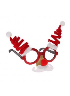 Новогодние очки с усиками фото