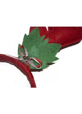 Новогодние оленьи рожки красные фото