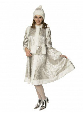 Новогодний костюм серебряной Снегурочки
