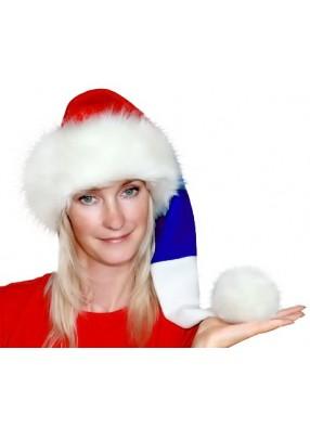 Новогодняя шапка Деда Мороза Флаг России