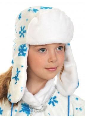 Новогодняя Ушанка белая детская