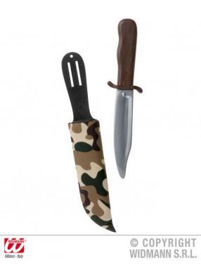 Нож в ножнах Камуфляж 27 см