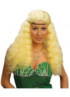 Объемный парик русалки блондинки