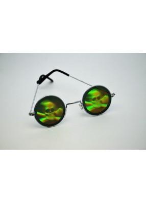 Очки с голограммой черепа и костей