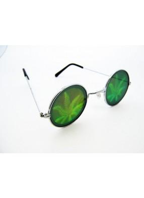 Очки с голограммой конопли