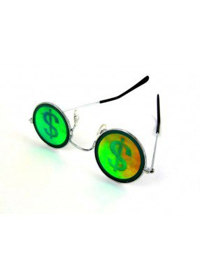 Очки с голограммой знака доллара