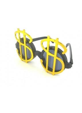 Очки с золотым значком доллара