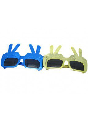 Очки солнечные с пальцами 1 фото