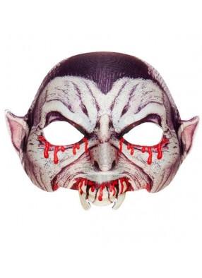 Окровавленная полумаска вампира