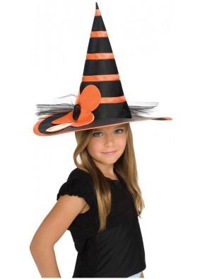 Оранжево-черный колпак маленькой ведьмы