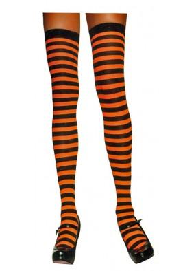 Оранжево-чёрные чулки
