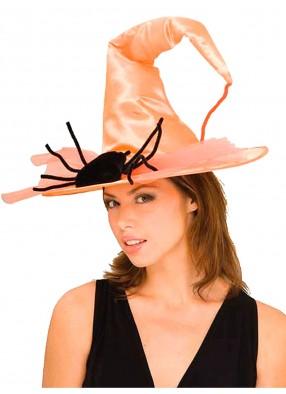 Оранжевый колпак ведьмы с пауком