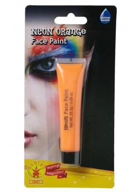 Оранжевый неоновый грим фото