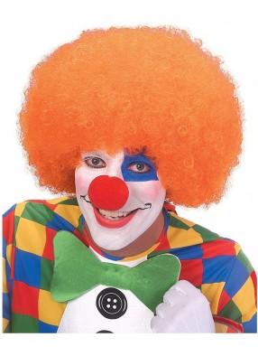 Оранжевый парик клоуна