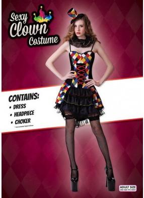 Откровенный костюм клоунессы
