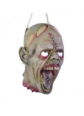 Отрубленная голова зомби на хэллоуин