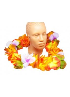 Ожерелье из цветов гавайское