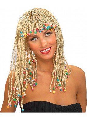 Парик афрокосички блонд