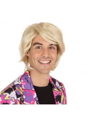 Парик блондина с пробором
