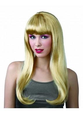Парик блондинки длинный с челкой