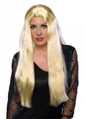 Парик чарующей ведьмы блондинки длинный фото